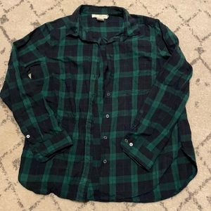 H&M Plaid Shirt - blue and green - size US 8